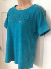 IKKS Tourquise Suede Top size S