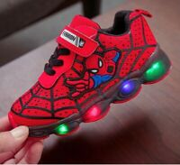 Scarpe bambini Luci Spiderman Led Sneakers Sport Light shoes