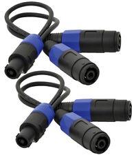 2 X Cable de altavoz QTX Speakon Splitter Amplificador de 2 Vías PA DJ ADAPTADOR de plomo
