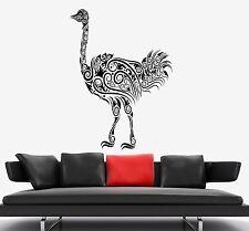 Wall Decal Ostrich Camel-Bird Ornament Tribal Mural Vinyl Decal (z3311)