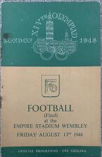 More details for sweden v yugoslavia final football olympics london 1948