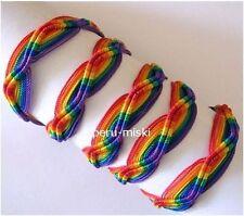 1000 WHOLESALE GAY PRIDE RAINBOW FRIENDSHIP BRACELETS, Handmade in Peru