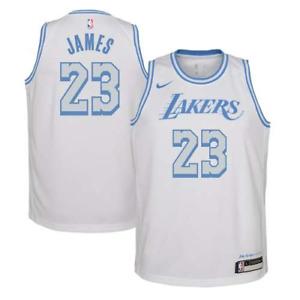 Men's Los Angeles LeBron James White 2021 Swingman Player Jersey – City Edition