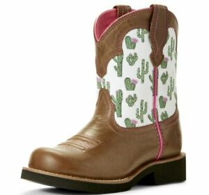 Ariat Western Bell Cactus Fat Baby Boots Little Girls Size 12.5 NEW in Box