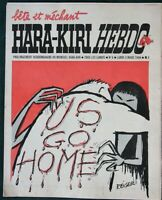 HARA-KIRI Hebdo no 5 - 1969 French Satire Magazine w anti Vietnam War cartoon