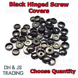 Hinged Screw Cap Covers Black - Flip Screw Cover Covers For 8 & 10 Gauge Screws