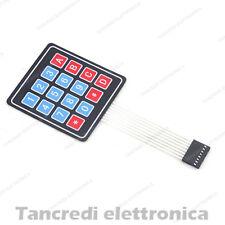 TASTIERINO NUMERICO 4x4 16 Tasti Membrana Adesiva Tastiera Keypad Matrix Arduino