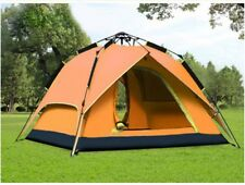 Orange 3-4 Persons Pop Up 1'S Family Outdoor Waterproof Camping Hiking Tent #