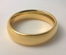 G-Filled Men's 18ct yellow gold wedding band 6mm ring comfort USA size 12 AUS Y