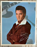 Vintage Elvis Presley 8x10 Autographed Photo RCA Records 1968 Flaming Star Promo