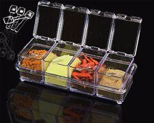 Acrylic Spice Dispenser Salt Crystal Container Jar Cruet Seasoning Box Wit Spoon