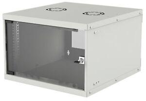 Intellinet Network Cabinet, Wall Mount (Basic), 6U, 400mm Deep, Grey, Flatpack,