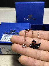 Swarovski ICONIC SWAN Black swan pendant Necklace jewelry
