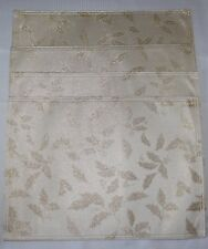 New listing Lenox Ivory Gold Holly Lurex Holiday Placemats Set of 4 Nwt Beautiful!