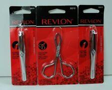 Revlon Scissor Grip Tweezer and Slanted Tweezers Lot of 3 New