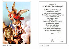 Prayer To St Michael The Archangel Religious Verse Holy Keepsake Card