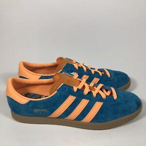 Adidas Stadt Limited Edition Mens Casual Shoe Teal/Orange EF9168 Men's Sz 12