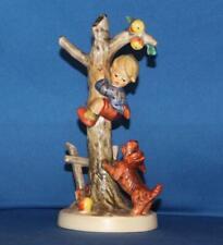 "Tall Hummel Goebel 36/A Culprits 6.75"" Figurine TMK6 Boy climbing tree w/ Dog"