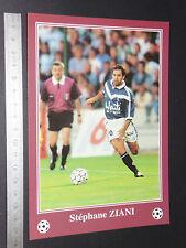 RARE STEPHANE ZIANI LESCURE GIRONDINS BORDEAUX FOOTBALL CPA FRANCE 1996-1997