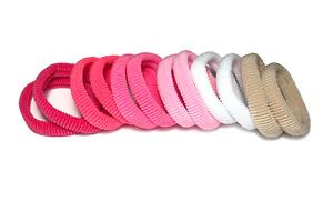 Girls Hair Elastics 12pcs Endless Bobbles 10 mm Thick Women Soft Bands Hair ties