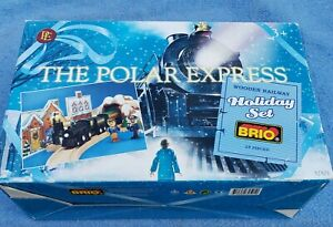Brio The Polar Express Wooden Railroad Holiday Set Train 32501 New in Box