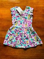 Bonds Baby Bluey Playground Purple White Green Summer Hipster Dress Size 1 BNWT