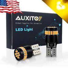 High Power 194 168 W5W 2825 Error Free Yellow Amber T10 Wedge LED Light Bulb 2x