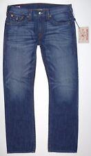 TRUE RELIGION ~ Mens RICKY STRAIGHT Blue Jeans ~ Sz 36 ( 38 X 34 ) ~ NWT