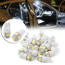 20x Super White T10 Wedge 5-SMD 5050 LED Interior Light Bulbs W5W 192 168 194