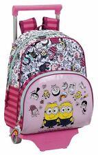 MINIONS GIRL Mochila pequeña con carro ruedas guarderia Trolley Small rucksack