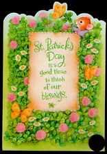 St. Patrick's Mouse Butterflies Flowers Daisy St. Patrick's Day Greeting Card