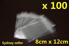 100x Self Adhesive Self Seal Resealable Clear Plastic Cellophane Bags 8x12cm New
