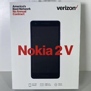 Sealed Nokia 2 V - Blue / Silver (Verizon)(Single Sim) New Prepaid No Contract