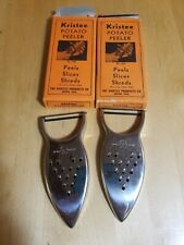 Vintage S & S Devault VEGETABLE Potato PEELERs Grater Arrowhead Pat 2106796 USA