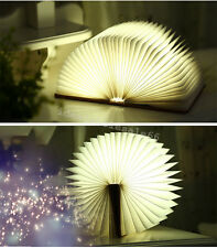 Book Shape Lamp Rechargeable LED Folding Night Light Chandelier 5 Colors