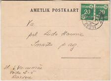 Germany Occ in Estonia WW II, Postcard with stamps 1941