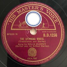 78rpm Delia Murphy - The Spinning Wheel / Three Lovely Lassies HMV BD1256