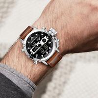 Reloj De Cuarzo Digital LCD Para Hombre Moda Deporte Lujo Impermeable Pro Casual