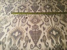 "5yd FABRICUT ""Sala"" Caviar IKAT Woven Jacquard Fabric No. 5087202  $775 RETAIL!"