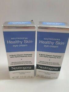 Lot of 2 NIB Neutrogena Healthy Skin Eye Cream Reduce Fine Lines Vitamin Treatme