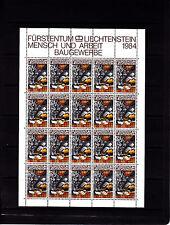 Liechtenstein Series courantes l'homme et le travail 60 r feuille 20 TP n° 796