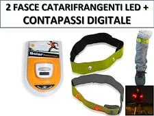 FASCE LUMINOSE CATARIFRANGENTI LUCE CON LED ROSSI+CONTAPASSI DIGITALE JOGGIN 01