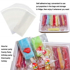 200Pcs Popsicle Bags Ice Cream Bags Ice Pop Bags Popsicle Wrappers self-sticking