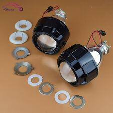 Black 2.5 Mini Bi-Xenon HID Projector Kit Lens Hi/Lo Headlights Shroud H1 H4 H7