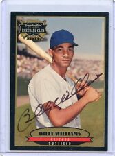 1996 CANADIAN CLUB #4 BILLY WILLIAMS AUTOGRAPH AUTO, CHICAGO CUBS