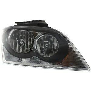 Headlight For 2005-2006 Chrysler Pacifica Right Clear Lens With Bulb