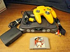 Nintendo 64 Video Game Console System, game, wires, controller