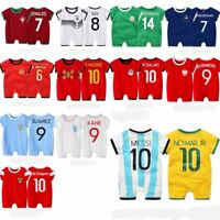 Baby Boy Girl World Cup Football Soccer Home Jersey Jumpsuit Outfit Cloth Romper