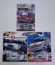Hot Wheels Lot of 3 Car Culture Datsun Bluebird 510