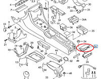 AUDI A4 B8 Center Console Rear Ashtray 8K0857961AZ3 New Genuine 2012